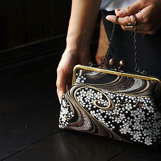 Jinlan Night Sakura Shuimu Jadekou Gold Bag