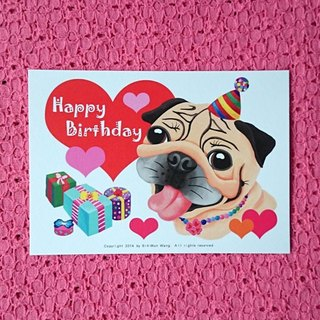 Postcard-Happy Birthday Pug-09