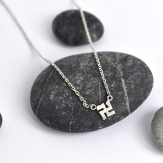 mini series swastika silver necklace million words