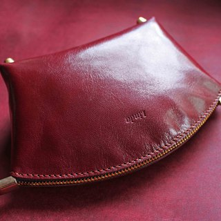 [Cosmetic bag universal bag] goatskin / kangaroo leather bag foot stand large opening