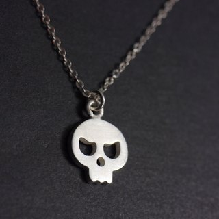 Tiny Skull Necklace - Halloween Jewelry -Sterling Silver