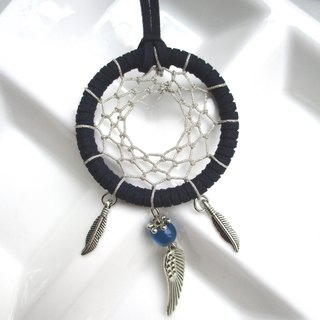Small kite - Dreamcatcher necklace - blue