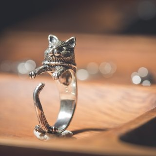 """Ermao Silver"" [Chubby] Mimi Adjustable Silver Ring"