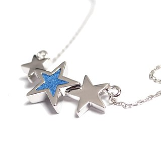 Handmade Blue Star Necklace