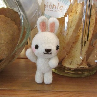 HI ~~ rabbit necklace / pendant pure New Zealand wool produced