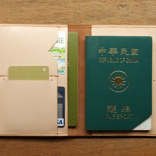 Leather Passport Case ( Custom Name ) - Classic Tan