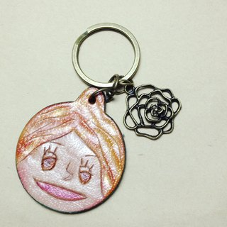 Flower roll classic characters smiley keychain