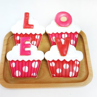 LOVE sugar cookie cupcakes hand combination (letters can be customized) by anPastry