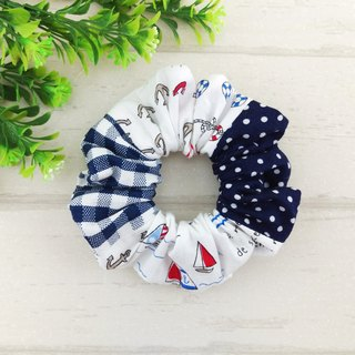 Navy. Handmade donut hair bundle / large intestine ring