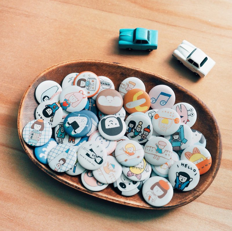 Yohand 3.2cm Pin Back Buttons / 50 Styles