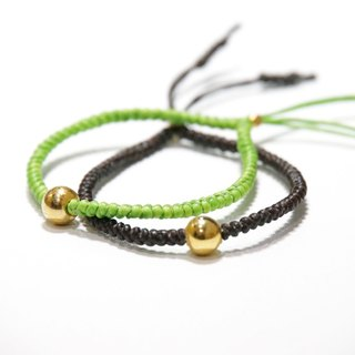 ITS-841 [Weaving series, wax line A] lucky bracelet 20 colors optional.