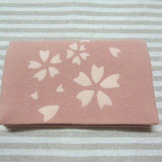 Mumu [vegetation] madder root dye pink cherry petals business card holder, the card holder