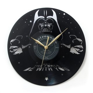[Time Traveler 1888] vinyl clock. Star Wars