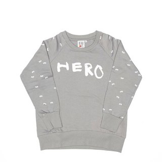 2015 Spring Beau loves gray Hero & amp; mini mask long-sleeved casual shirt