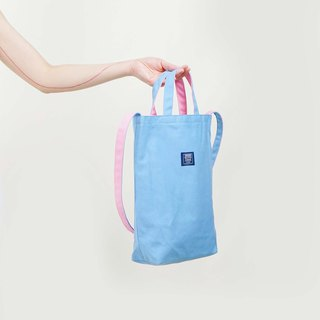 ::Bangstree:: two-colored reversible canvas bag -Blue+DarkBlue