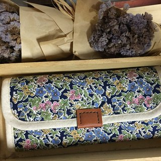 [Clare] vintage hand-made cloth Japanese fabric elegant long folder / Clutch