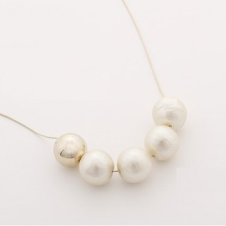 ★ new autumn and winter ★ Cotton Pearl Necklace / JC2139