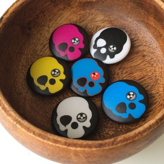 JokerMan- original design Rock * Skull Rock Skull / color small badge