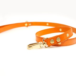 [Handsome hand-made leather collar leather leash]