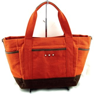 Love Canvs canvas handbag (with adjustable shoulder strap) --- 3 colors optional brown / lake blue / dark blue