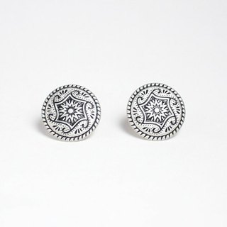 Circle dot magic circus stainless steel ear ear earrings ear clip earring 047