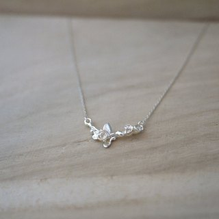 [Jewelry] Jin Xialin ‧ rose buds 01 sterling silver necklaces