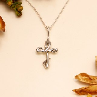Fancy Moon * Rotary ‧ cross necklace ‧925 sterling silver