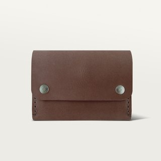 Double buckle wallet / wallet - dark brown