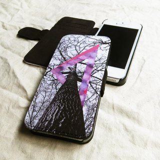 Purple, Geometric Forest - Designer,iPhone Wallet,Pattern iPhone wallet