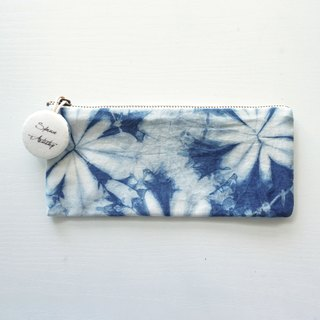 S.A x Spring, Indigo dyed Handmade Natural Pattern Pencil Case