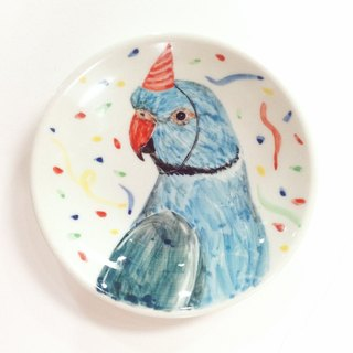 Blue Moon round Birthday Party - Birthday painted saucer