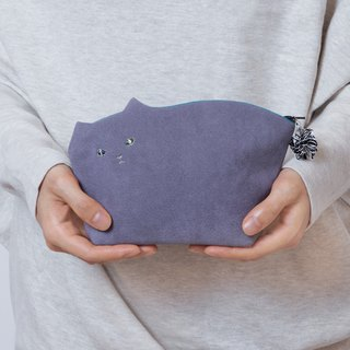 Kittenko pouch 003 light gray 【Make-to-order production】