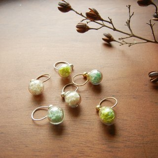 *coucoubird*ear clip-style flower earrings / three-color custom - gold & silver