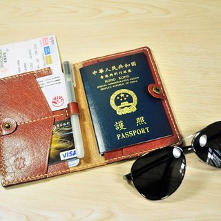 Happy travel! MICO hand leather leather passport (Maroon)