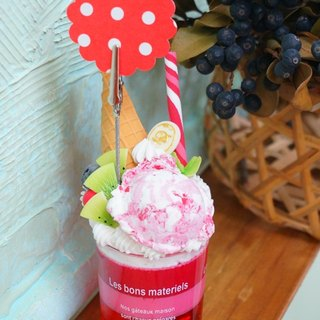 Bei Bei colorful handmade ice cream dessert (strawberry ice cream)