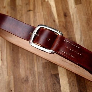 Brad Pitt tank Handmade Cadillac engraved belt vegetable tanned leather belt Argentina Buckle Edition