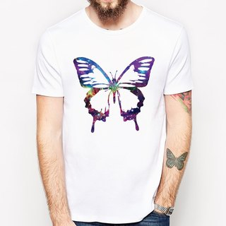 Cosmic Butterfly T-shirt - Milky white butterfly insect nature animal green green paper art design simple minimalist chic fashion