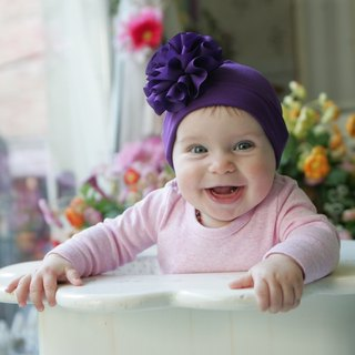 hajour playful baby cap (purple)
