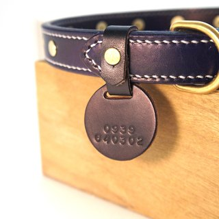 [Handsome hand-made leather collar plus purchase of goods] - fixed buckle collar brand