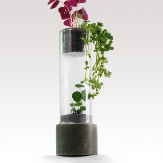 Greenology Glass Tower with Cement Base (Large)
