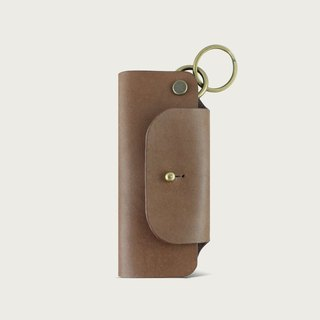 Leather Key Bag/Key Ring - Brown