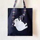 動物 Tote Bag 全人手製 熊跳降傘 帆布袋