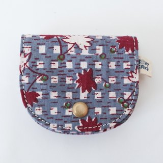 Brut Cake handmade fabric - vintage print coin wallet (6) limited item ! handy, large capacity