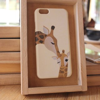 Korea style top anti-wear paint painted phone protective shell [Spa smaller objects / kiss baby - Parenting giraffe] Korean design house can be customized model iPhone: i6s / i6s plus + / i6 / i6 plus / i5 / Samsung Samsung: S6 Edge + plus / S6 / S6 Edge /