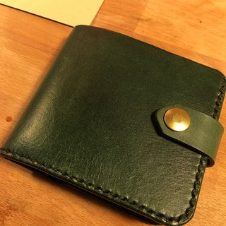 Golden Forest handmade leather original forest green short clip