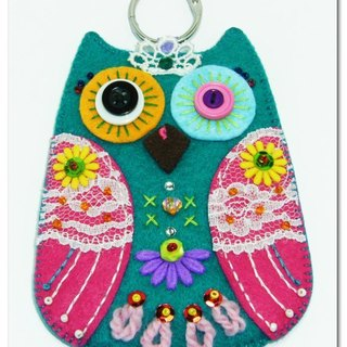 Owl Card Case - Turkey pink