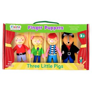 [UK Fiesta moving hands +] Three Little Pigs Creative Play Creative fingers even Toys (4 groups)