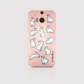 (Rabbit Mint) Mint Rabbit Phone Case - Pink Straight Series - HTC One M8 (P00050)
