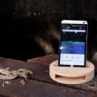 【Taiwanese Cypress】 Cell Phone Sound Amplifier x Round Coaster