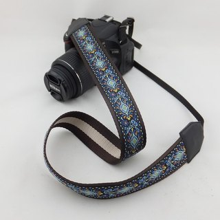 Camera strap can print personalized custom leather stitching national wind embroidery pattern 043